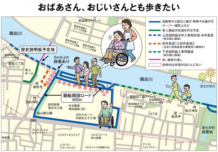 「おばあさん、おじいさんとも歩きたい」計画イメージ図