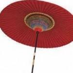 導師様用の朱傘