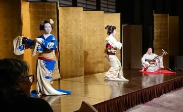 会長のご厚意でディナーがありました 舞妓さんと芸妓さんによる「祇園小唄」の歌と踊りが素晴らしかったです 舞妓さんと芸妓さんはとても美人でしたがカメラの技術が低くて申し訳ありません 左の方はインドから来た医師