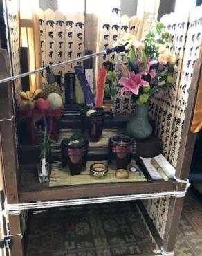 今年の施餓鬼壇です 4月20日の記事の施餓鬼壇です