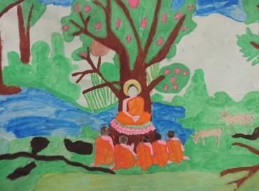 平成31年4月スリランカの小学生からの絵