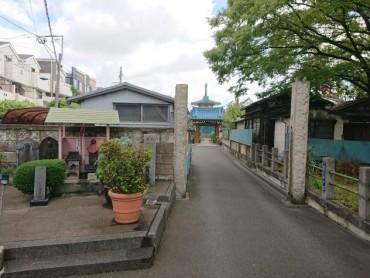 本日9時の福性寺参道