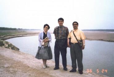 平成元年1996年5月24日流れの止まった(断水)黄河