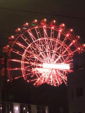 荒川遊園地の観覧車のライトアップ 法輪に見えませんか?