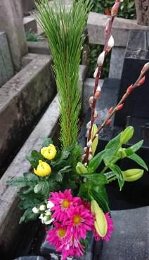 お墓の供花