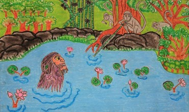 令和3年2021年スリランカミヒンタレー市のサンガラタナ師から送られてきた奨学生の絵画