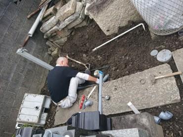 水場新設工事 現在は使用することができます まだ仮設状態です